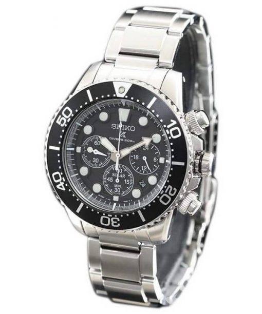 Seiko Prospex Scuba Diver SBDL047 Japan Made Chronograph Solar 200M Men's Watch