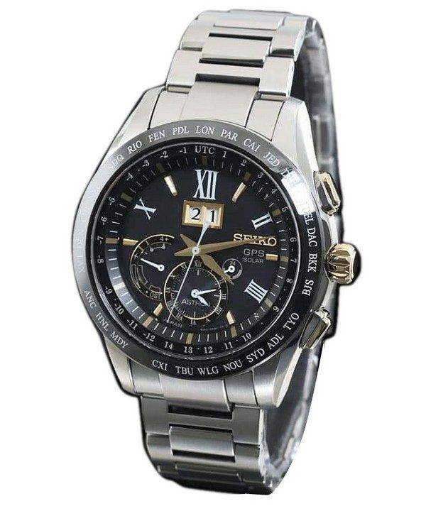 Seiko Astron SBXB139 GPS Titanium Power Reserve Japan Made Men's Watch