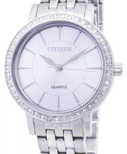 Citizen Quartz EL3040-80A Analog Diamond Accents Women's Watch