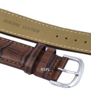 Brown Ratio Brand Leather Strap 22mm For SKX007, SKX009, SKX011, SNZG07, SNZG015