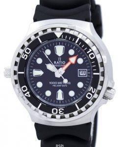 Ratio II Free Diver Helium Safe 1000M Quartz 1038EF102V Men's Watch