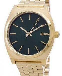 Nixon Time Teller Gold Tone Green Sunray A045-1919-00 Mens Watch