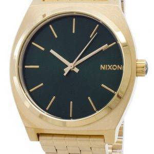 Nixon Time Teller Gold Tone Green Sunray A045-1919-00 Mens Watch