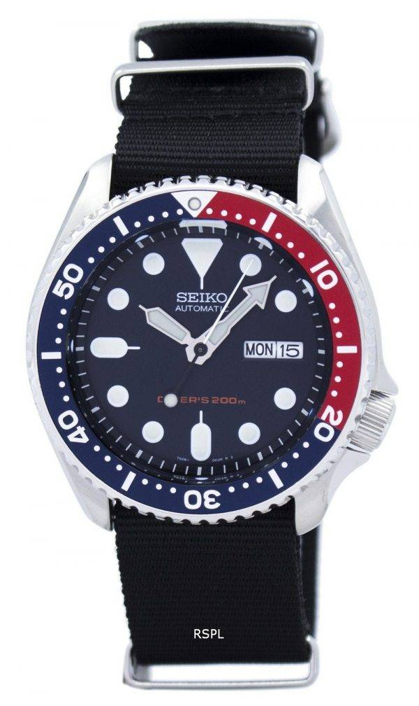 Seiko Automatic Diver's 200M NATO Strap SKX009K1-NATO4 Men's Watch