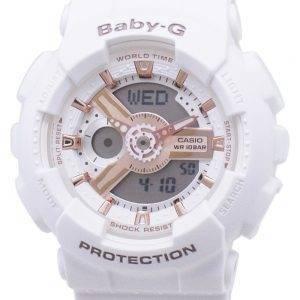 Casio Baby-G BA-110RG-7A BA110RG-7A World Time Shock Resistant Women's Watch