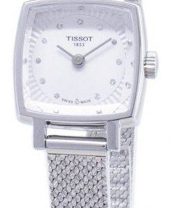 Tissot T-Lady Lovely Square T058.109.11.036.00 T0581091103600 Diamond Accents Quartz Women's Watch