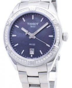Tissot T-Classic PR 100 Lady Sport T101.910.61.121.00 T1019106112100 Diamond Accents Quartz Women's Watch