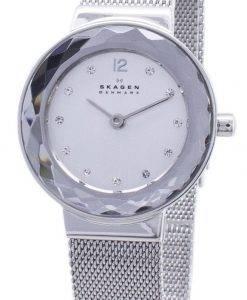 Skagen Leonora Quartz Steel Mesh Crystals 456SSS Women's Watch