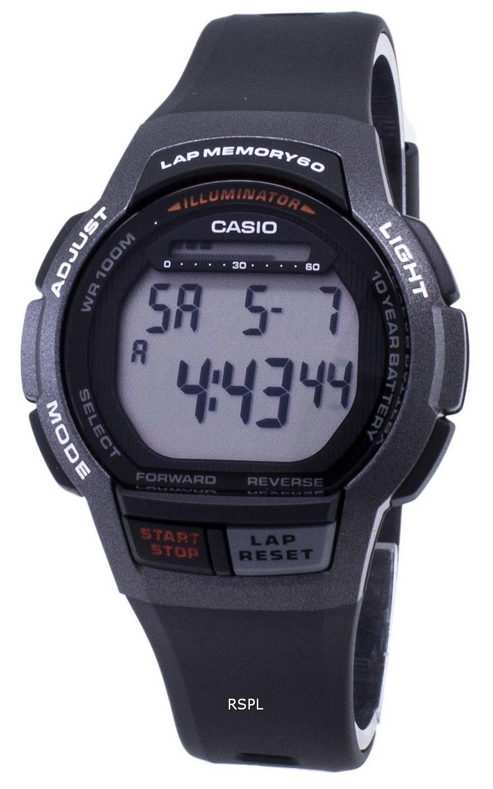 Casio Youth WS-1000H-1AV WS1000H-1AV Illuminator Digital Men's Watch