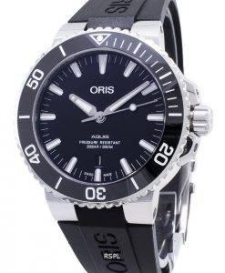 Oris Aquis Date 01 733 7730 4134-07 4 24 64EB 01-733-7730-4134-07-4-24-64EB Automatic 300M Men's Watch
