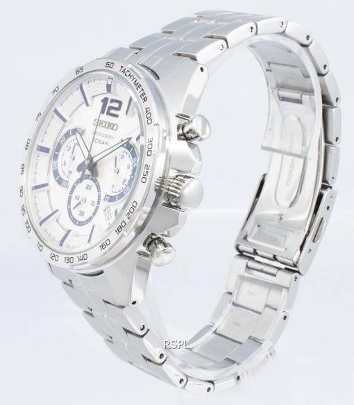 Seiko Chronograph SSB343P SSB343P1 SSB343 Tachymeter Analog Quartz Men's Watch