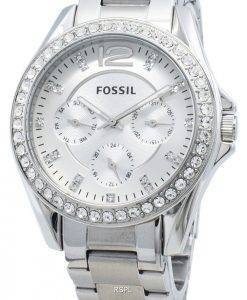 Refurbished Fossil Riley ES3202 Chronograph Diamond Accents Women's Watch