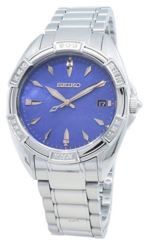 Seiko Classic SKK881P SKK881P1 SKK881 Diamond Accents Quartz Women's Watch