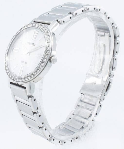 Seiko Solar SUP431 SUP431P1 SUP431P Diamond Accents Women's Watch