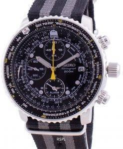 Seiko Pilot's Flight SNA411P1-VAR-NATO1 Quartz Chronograph 200M Men's Watch