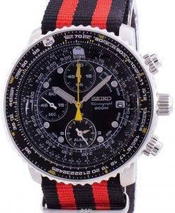 Seiko Pilot's Flight SNA411P1-VAR-NATO3 Quartz Chronograph 200M Men's Watch